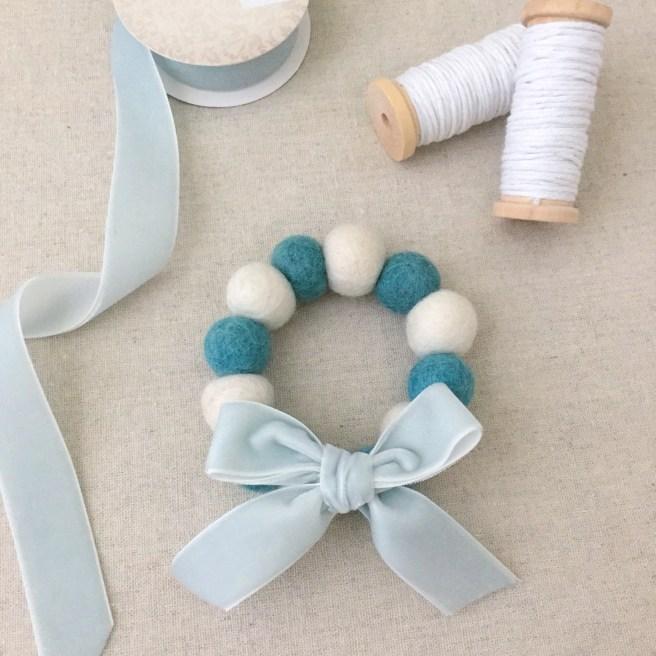 Easy DIY: Felt Ball Wreath Ornaments - Pink Bows & Twinkle Toes