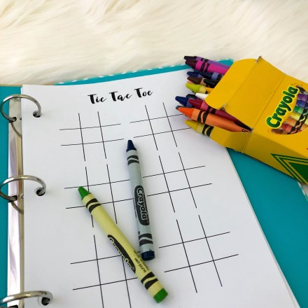 Tic Tac Toe Game - Free Printable Insert - Pink Bows & Twinkle Toes
