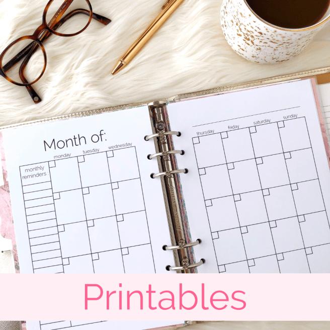 Printables - Pink Bows & Twinkle Toes