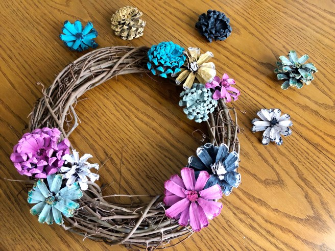 Wreath Composition - Pink Bows & Twinkle Toes
