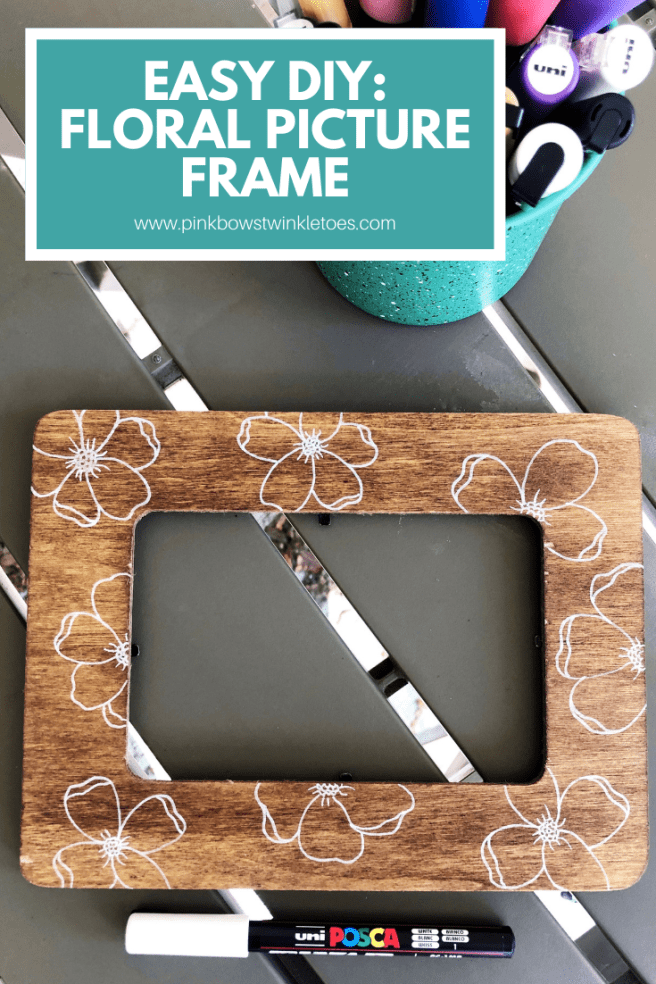Floral Picture Frame - Pink Bows & Twinkle Toes