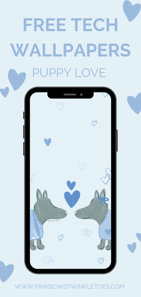 Puppy Love Tech Wallpapers - Pink Bows & Twinkle Toes