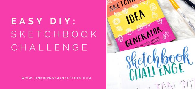 DIY Sketchbook Challenge - Pink Bows & Twinkle Toes