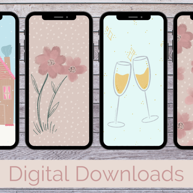 Digital Downloads - Pink Bows & Twinkle Toes