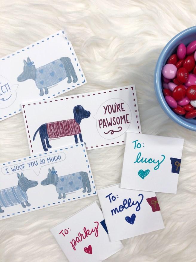 Free Printable Valentines - Pink Bows & Twinkle Toes