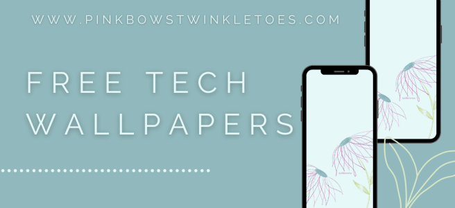 Blooms Tech Wallpaper - Pink Bows & Twinkle Toes
