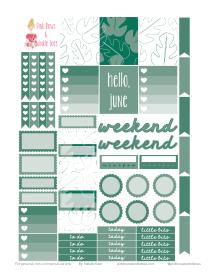 PBTT June Functional Sticker Sheet 2017