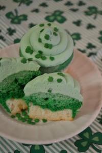 Shamrock Shake Cupcakes!