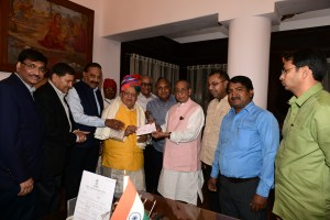 Rajasthan Chamber of Commerce representatives met the Governor