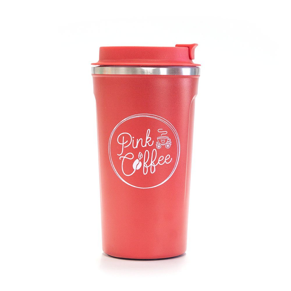 Pink Coffee Tumbler Red Color