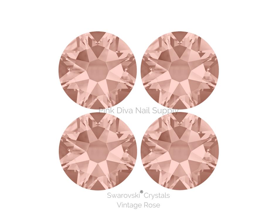 884a54c39034 Swarovski® Vintage Rose - Pink Diva Nail Supply