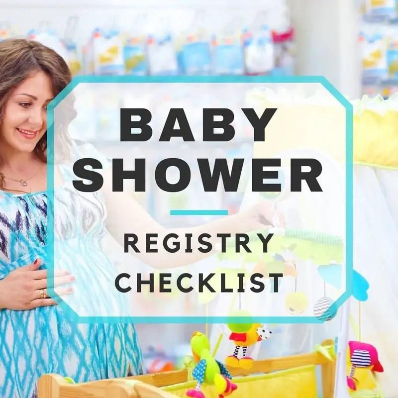 Baby Shower Registry Checklist