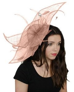 pale pink fascinator hat
