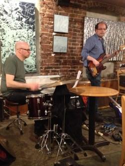 Jason Treuting on drums