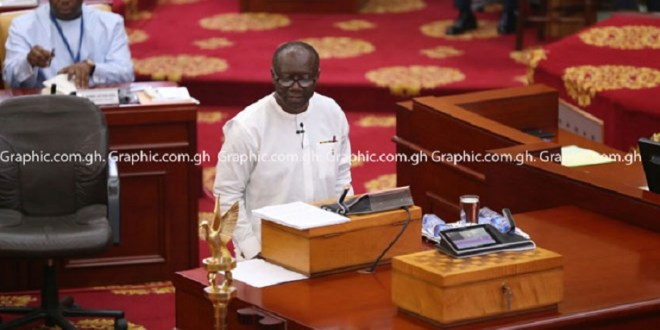 Full text: Finance Minister, Ofori-Atta presents 2021 expenditure in Advance of Appropriation to Parliament