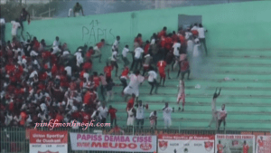The Stadium wall in Dakar collapsed as rival fans clashed and police fired tear gas during a Senegal football league final in Dakar in a stampede that broke out following clashes at the end of the match.