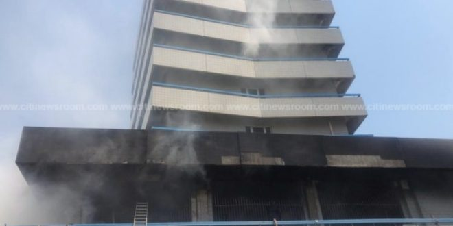 GCB Bank in Accra Central Business District gutted by fire