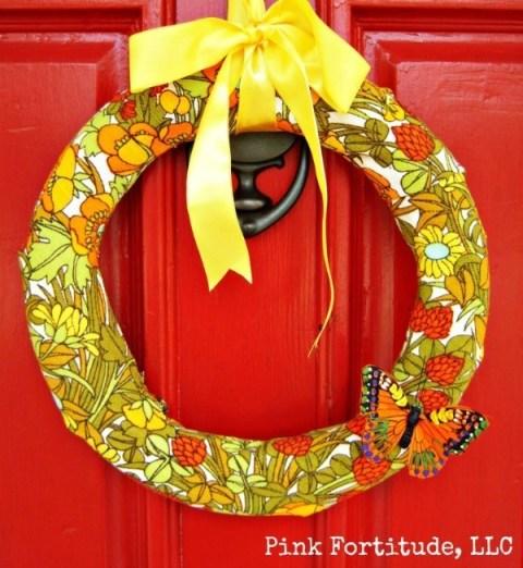 DIY Vintage 70's Floral Wreath by coconutheadsurvivalguide.com
