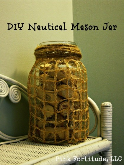 DIY Nautical Mason Jar by coconutheadsurvivalguide.com
