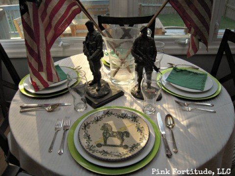 Green Beret Special Forces Birthday Table by coconutheadsurvivalguide.com