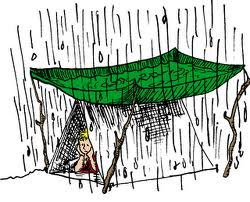 camp-rain