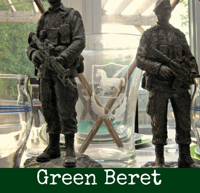 Green Beret Birthday Table