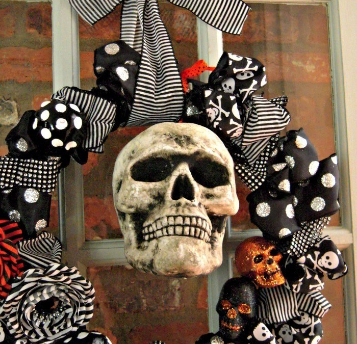 Mr. Boo's Blinged Out Wreath
