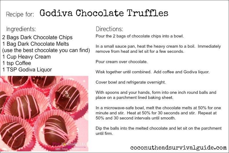 Godiva Truffles by coconutheadsurvivalguide.com #recipe #chocolate #valentinesday