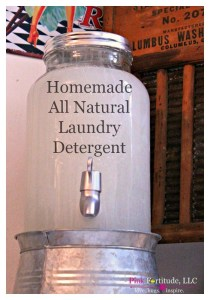 Homemade All Natural Laundry Detergent