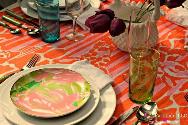 The Running of the Lilly Tablescape by coconutheadsurvivalguide.com #lillyfortarget