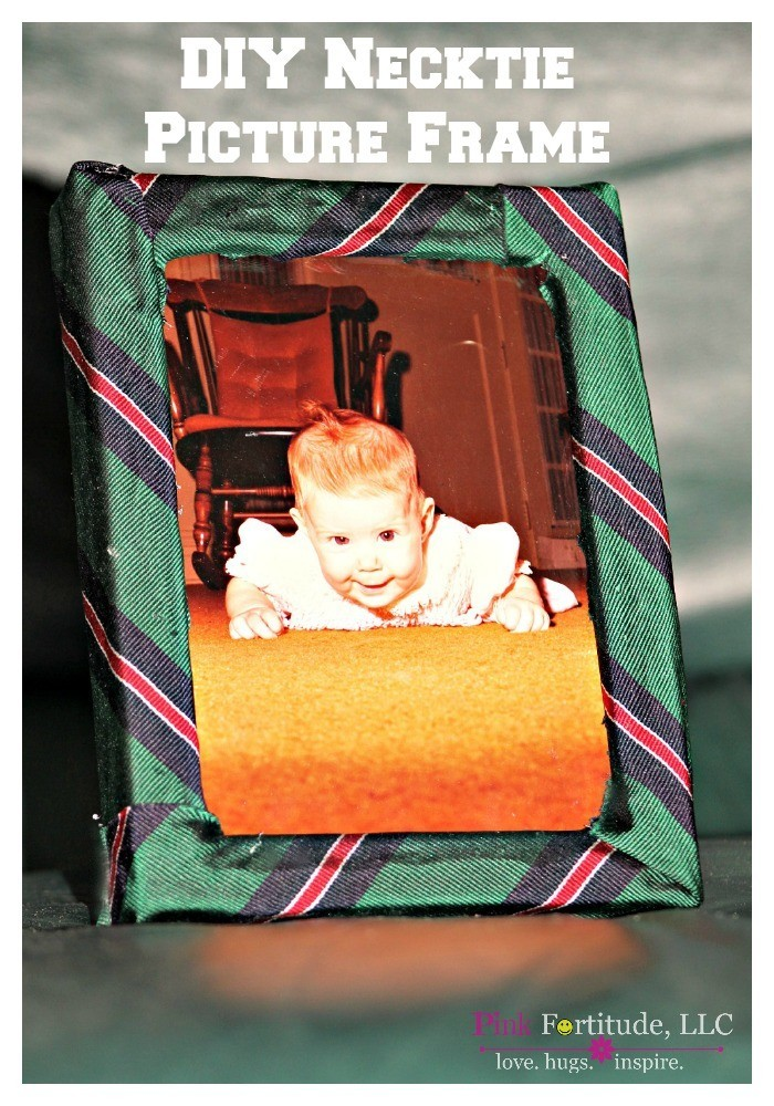 This necktie picture frame is a great DIY and frugal Father's' Day present. You can use any existing picture frame (who else has like 20 extra?!?!?) and one of Dad's old neckties. Older kids can help you make this, and younger kids can help watch.