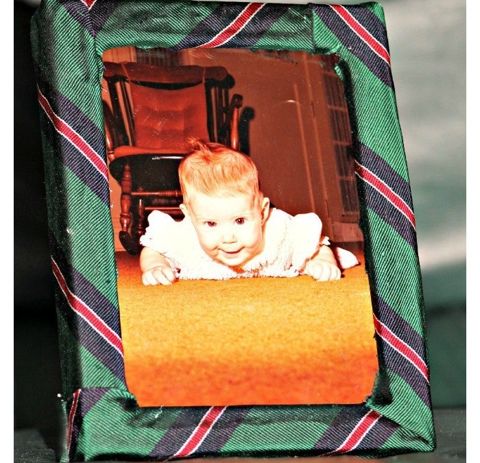 DIY Necktie Picture Frame for Father's Day