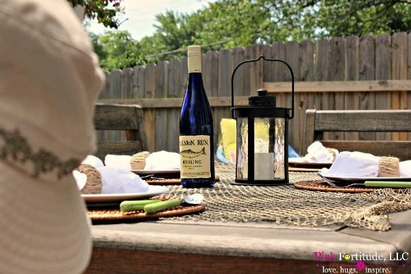 Lakeside Cabin in the Burbs Tablescape by coconutheadsurvivalguide.com