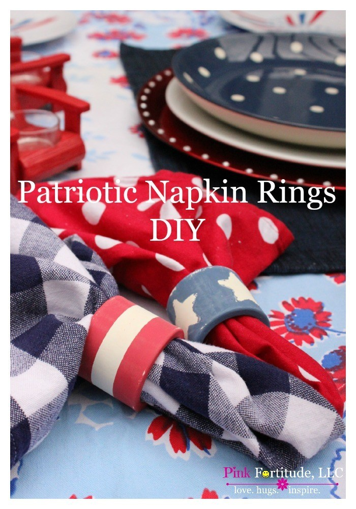 Patriotic Napkin Rings DIY by coconutheadsurvivalguide.com #milkpaint