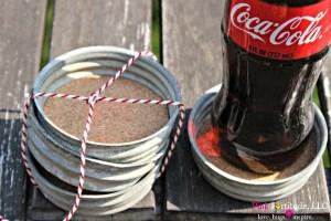 Vintage Zinc Mason Jar Lid Coaster DIY