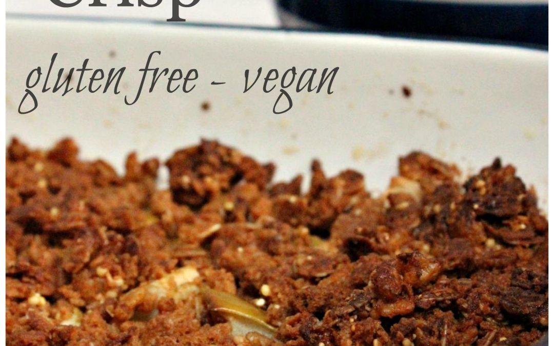 Cinnamontastic Apple Crisp – Gluten Free and Vegan