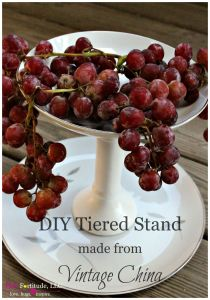 DIY Tiered Stand Made From Upcycled China