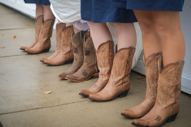 cowboy boot wedding