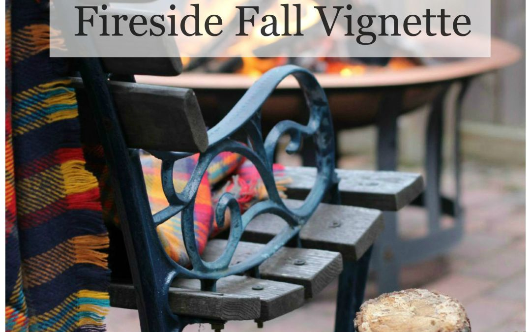 Fireside Fall Vignette – Fall Home Tour Preview