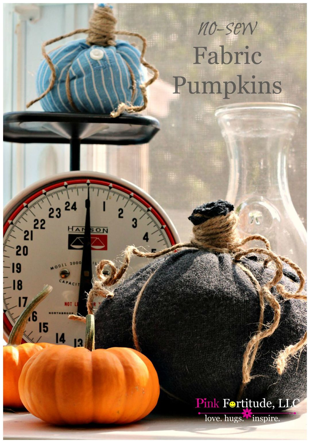 I've seen these adorable little fabric pumpkins all over Pinterest and knew I had to try to make them myself! They are so easy to make! If you have any old shirts, sweaters, or come across a cheap yard sale find, this is a brilliant way to upcycle the fabric into these cute and festive fall pumpkins. Here's how!