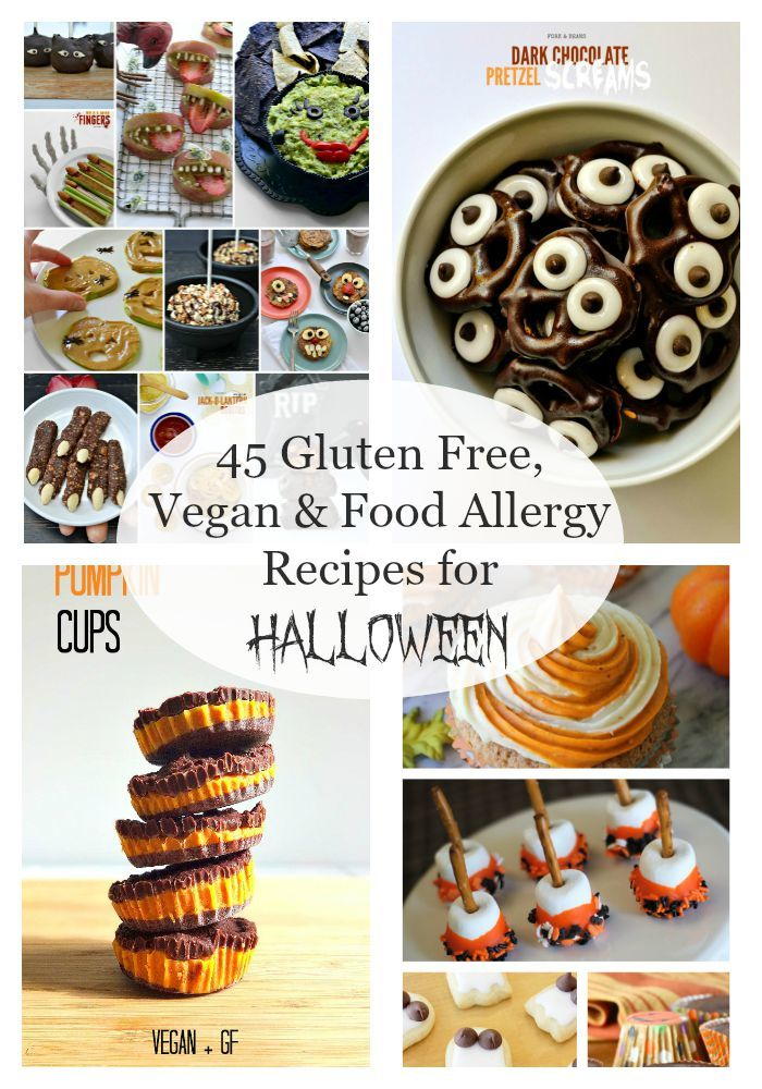 It's the one night a year that makes Mamma's unite in fear... not because of Halloween, but because of the unfettered explosion of candy and treats that can do harm to their children. I've curated a roundup of 45 allergy-friendly recipes for Halloween treats that are super fun for your party, to take to school, or to make at home. Oh - and they are great for EVERYONE!