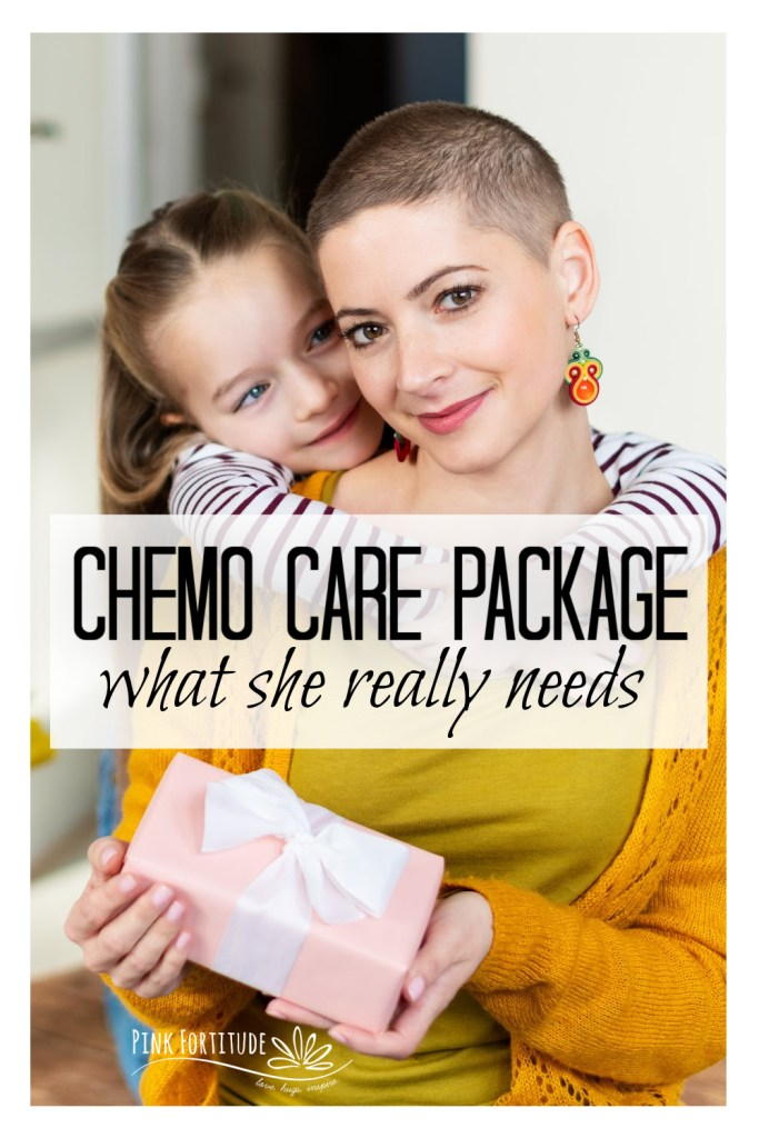 Going through chemo is rough. It's easy to put together a chemo care basket or package for your loved one. These are gift items that a cancer patient could really use while going through chemo treatment. These items may not be glamorous, but they are practical and will be greatly appreciated, and what a cancer patient really needs.