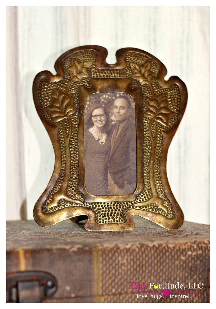 Vintage Trunk and Trench Art Vignette