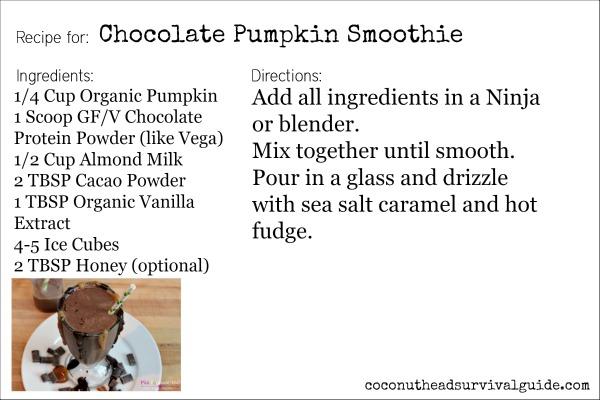 Chocolate Pumpkin Smoothie Recipe