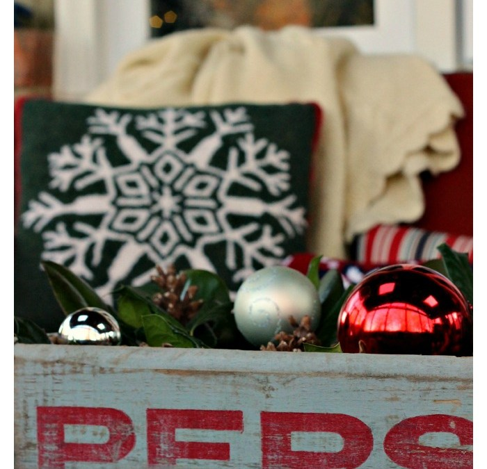 Cozy and Rustic Holiday Porch – Home For Christmas Blog Tour