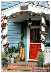 Pottery Barn Garland Welcomes Christmas