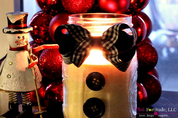 Primitive & Peppermint Snowman Candle DIY