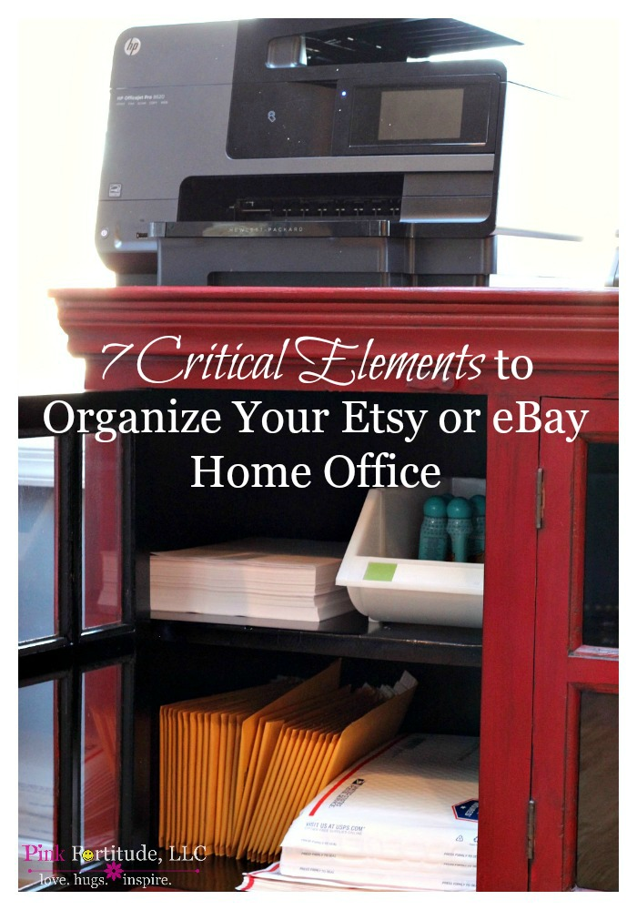 7 Critical Elements To Organize Your Etsy Or Ebay Home Office Pink Fortitude Llc