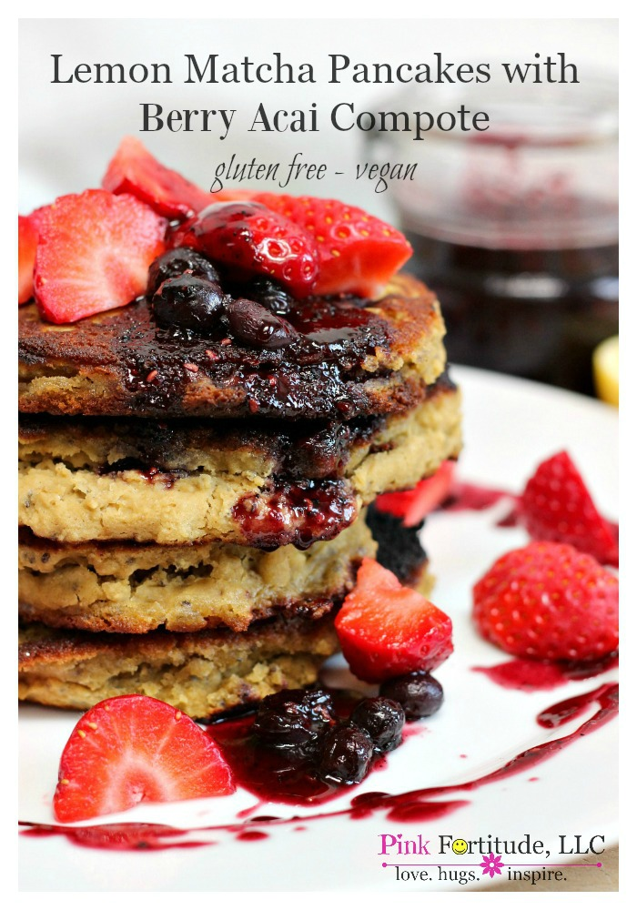 These aren't your Grandma's pancakes. They are gluten-free and vegan and full of energizing superfoods like lemon, blueberries, matcha, and acai. And oh, by the way, they are semi-homemade and probably the most delicious pancakes you will ever taste. Think brunch at a 5-star spa/resort.