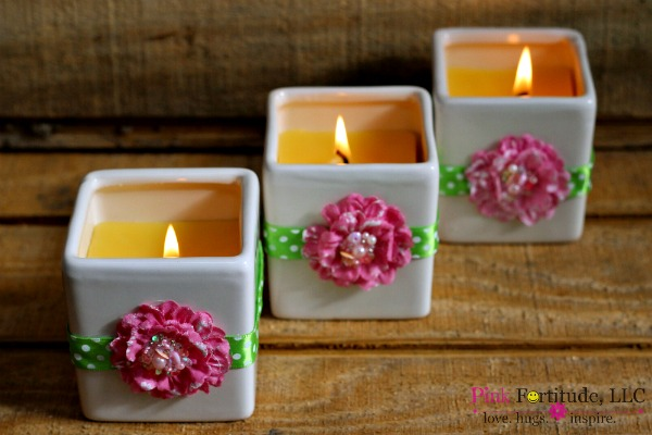 Flowers of Spring DIY Candle